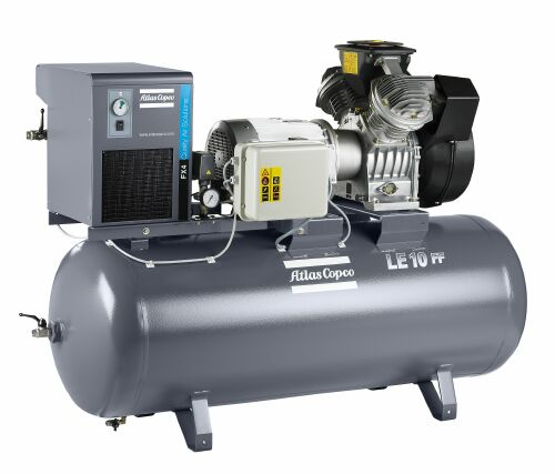 LE piston compressor with mounted FX dryer